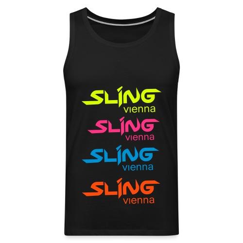 sling vienna rainbow shirt - Männer Premium Tank Top