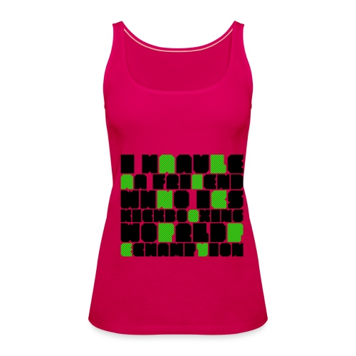 design2 noir-vert girl - Débardeur Premium Femme