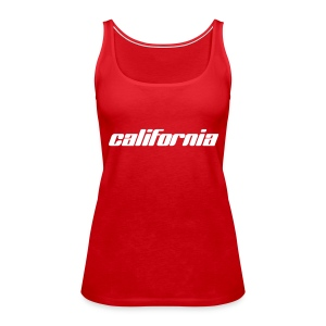 "Spaghetti-Top ""california"" rot - Frauen Premium Tank Top"