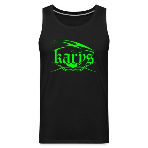 Karys Gym Wear Neon Green Tank - Männer Premium Tank Top