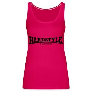 Hardstyle Sweden - Svart tryck - Flera tröjfärger - Premiumtanktopp dam