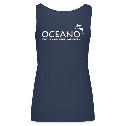 OCEANO Spaghetti türkis-weiß - Frauen Premium Tank Top