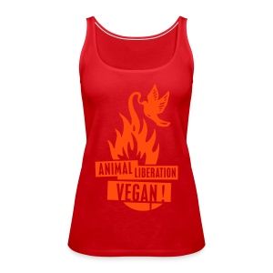 Womens Tank-Top 'animal liberation vegan' NeoOrange - Frauen Premium Tank Top