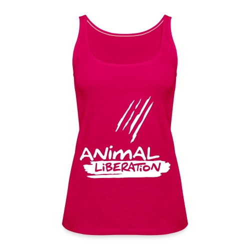 Womens Spaghetti-Top  'Animal Liberation' - Frauen Premium Tank Top