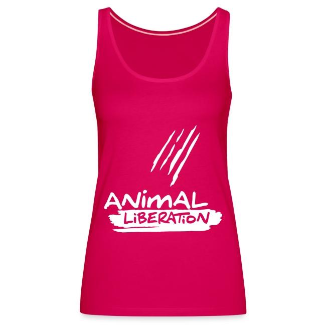 Womens Spaghetti-Top  'Animal Liberation'