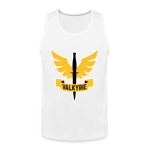 Men's Tank-Top with Yellow Logo (Limited Edition!) - Men's Premium Tank Top