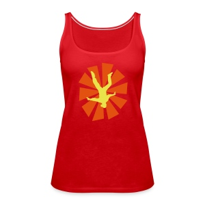 Freeflyer With Sun Rays1 - Women's Premium Tank Top
