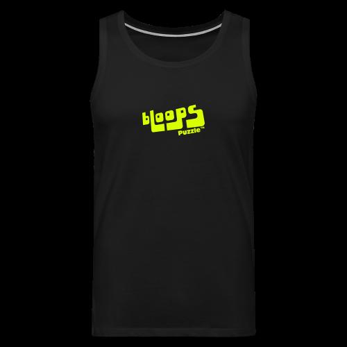 """Men's Tank Top """"bLoops Puzzle"""" (printed yellow néon) - Men's Premium Tank Top"""