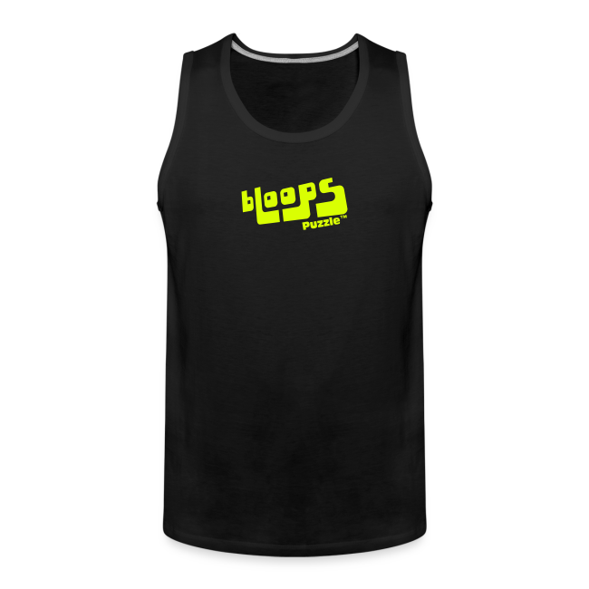 """Men's Tank Top """"bLoops Puzzle"""" (printed yellow néon)"""