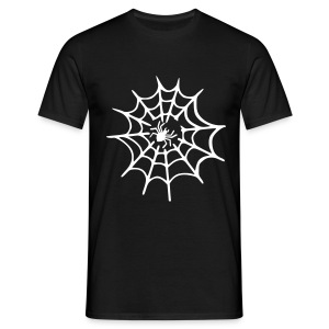Men's black T-shirt Spider Web - Men's T-Shirt