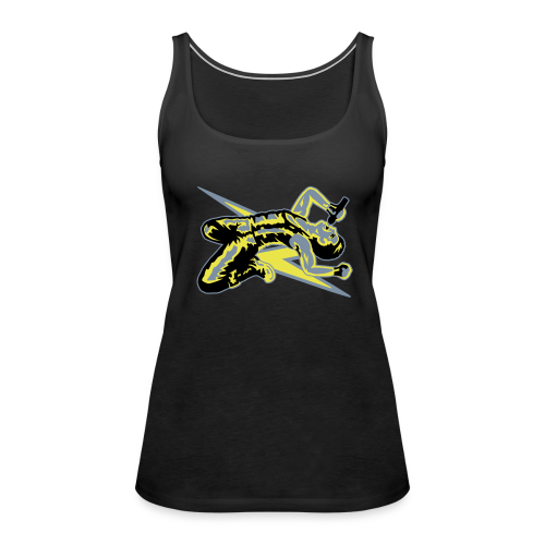 Rock God-Yellow/Silver - Women's Premium Tank Top