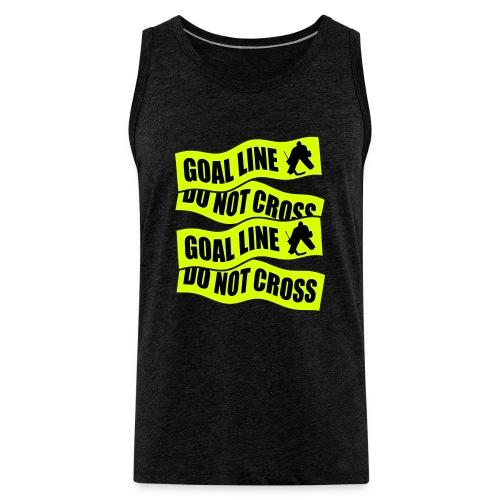 Goal Line Do Not Cross Men's Hockey Vest Top - Men's Premium Tank Top