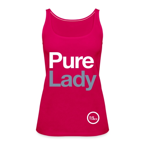 Pure Lady (White/Silver Metallic) [Female] - Women's Premium Tank Top