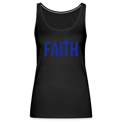 Women's Blue Faith Tank - Women's Premium Tank Top