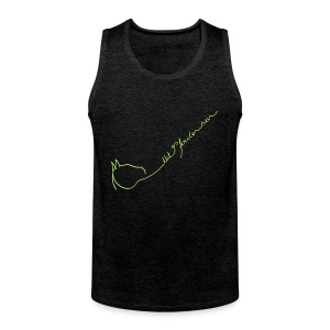 Front LOGO Schriftzug, Back Naiv Print , Men Tank Top, Unisex ( Print. Light Apple Green) - Männer Premium Tank Top