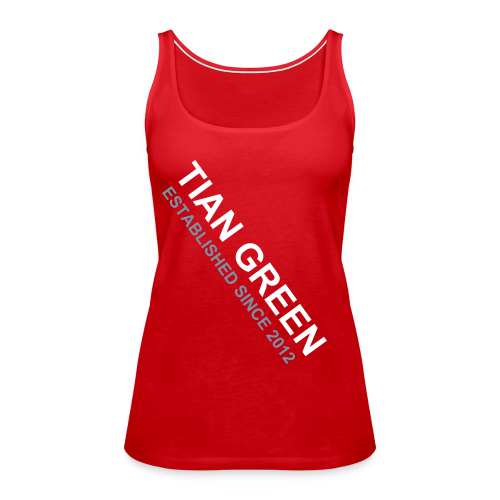 TIAN GREEN Shirt Women - ESTABLISHED 2012 - Frauen Premium Tank Top
