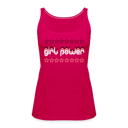 """Girl Power"" Women's Premium Tank Top - Women's Premium Tank Top"