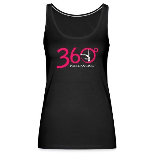 360 + THIS WAY UP - Black Vest top - Women's Premium Tank Top