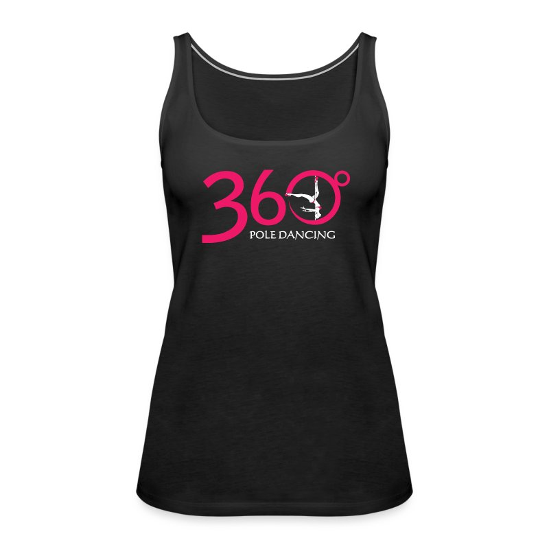 360 + THIS WAY UP - Black Vest top - Women's Premium Tank Top