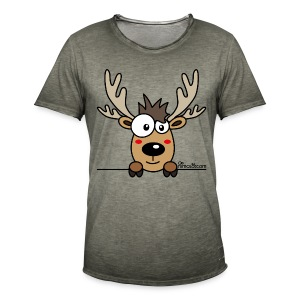 T-shirt vintage Homme Caribou, Renne, Noël - T-shirt vintage Homme