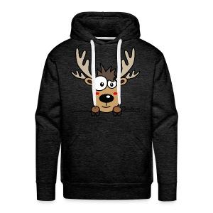 Sweat-shirt Homme Caribou, Renne, Noël - Sweat-shirt à capuche Premium pour hommes