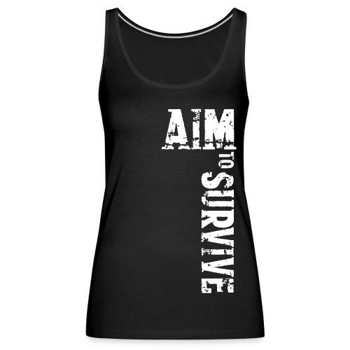 AIM TO SURVIVE - Top schwarz - Frauen Premium Tank Top