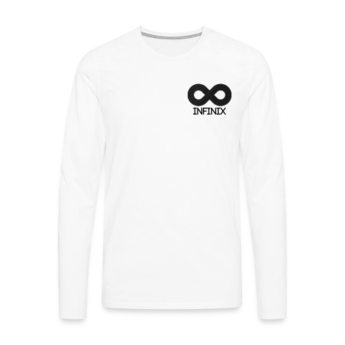 Long Black On White - Men's Premium Longsleeve Shirt