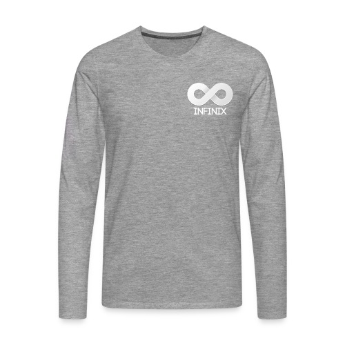 Long White On Grey - Men's Premium Longsleeve Shirt
