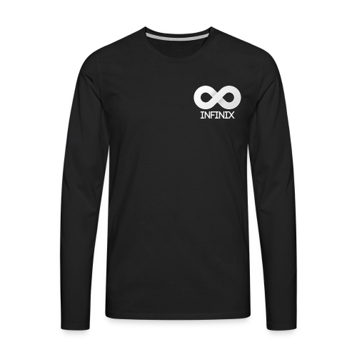 Long White On Black - Men's Premium Longsleeve Shirt