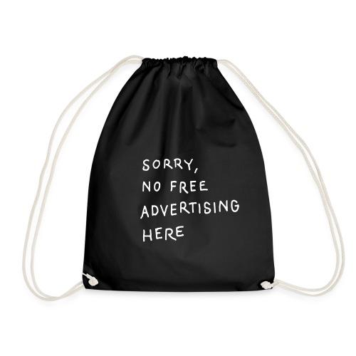 Ad Free / One, Cotton Gym Bag - Turnbeutel