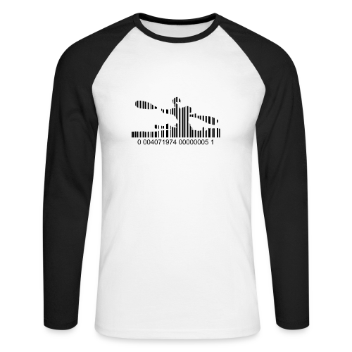 Camiseta baseball bar code - Raglán manga larga hombre