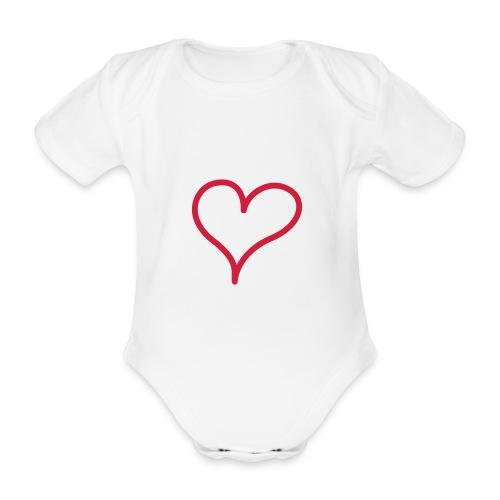 I love my parents and they love my! - Ekologisk kortärmad babybody