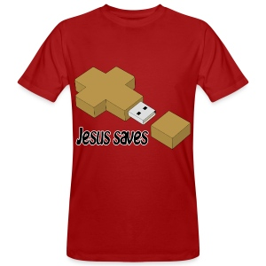 Jesus saves - Männer Bio-T-Shirt