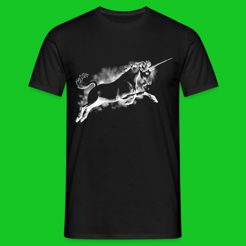 Unicorn wit heren  t-shirt - Mannen T-shirt