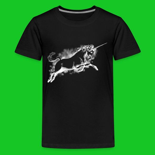 Unicorn wit teenager t-shirt
