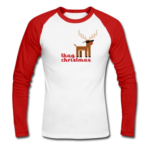 Thug christmas reindeer - Men's Long Sleeve Baseball T-Shirt