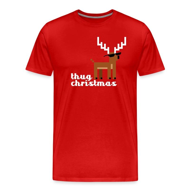 Thug Xmas Deer - Men's Premium T-Shirt