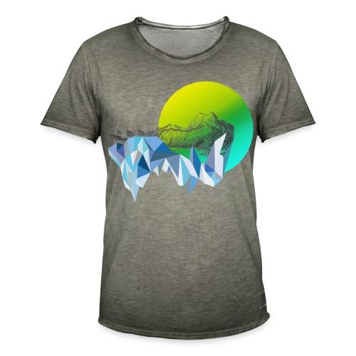 mountain sun - Männer Vintage T-Shirt