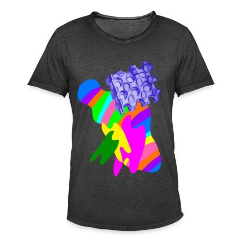 bunt - Männer Vintage T-Shirt