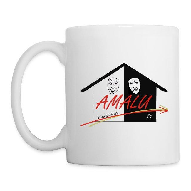 Tasse mit Amalu Logo (seitlich)