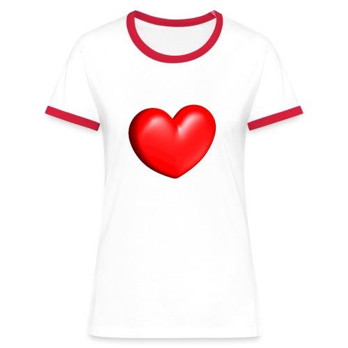 Love'shirt - T-shirt contrasté Femme