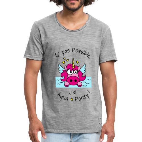 T-shirt vintage Homme Licorne... J'ai aquaponey - T-shirt vintage Homme