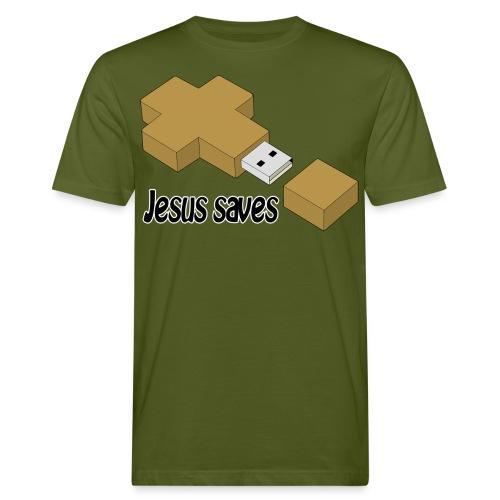 Jesus saves - Männer Bio-T-Shirt