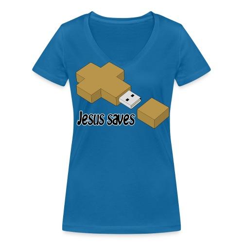 Jesus saves - Frauen Bio-T-Shirt mit V-Ausschnitt von Stanley & Stella