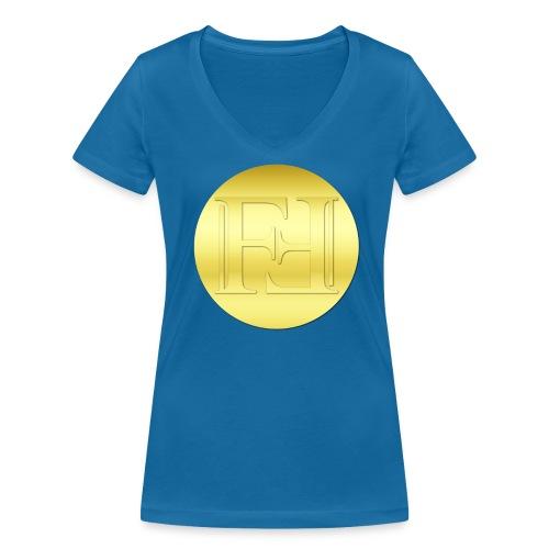 Freicoin - Frauen Bio-T-Shirt mit V-Ausschnitt von Stanley & Stella