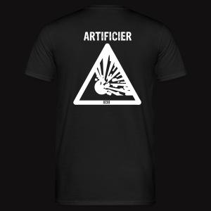 tshirt artificier flocage blanc - T-shirt Homme