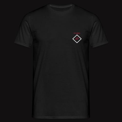 tshirt artificier flocage red blanc - T-shirt Homme