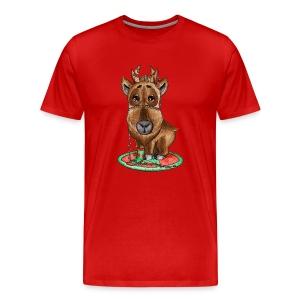 Reindeer refined Rentier scribblesirii - Camiseta premium hombre
