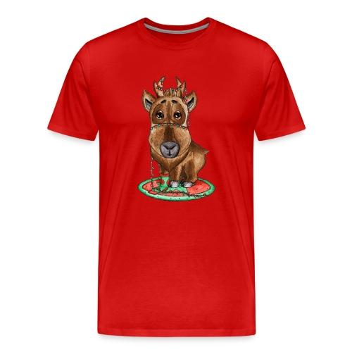 Reindeer refined Rentier scribblesirii - Premium-T-shirt herr