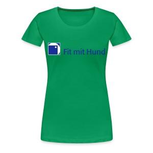 Fit mit Hund® Frauen-T-Shirt helle Farben (normaler Schnitt, auch in großen Größen) - Frauen Premium T-Shirt